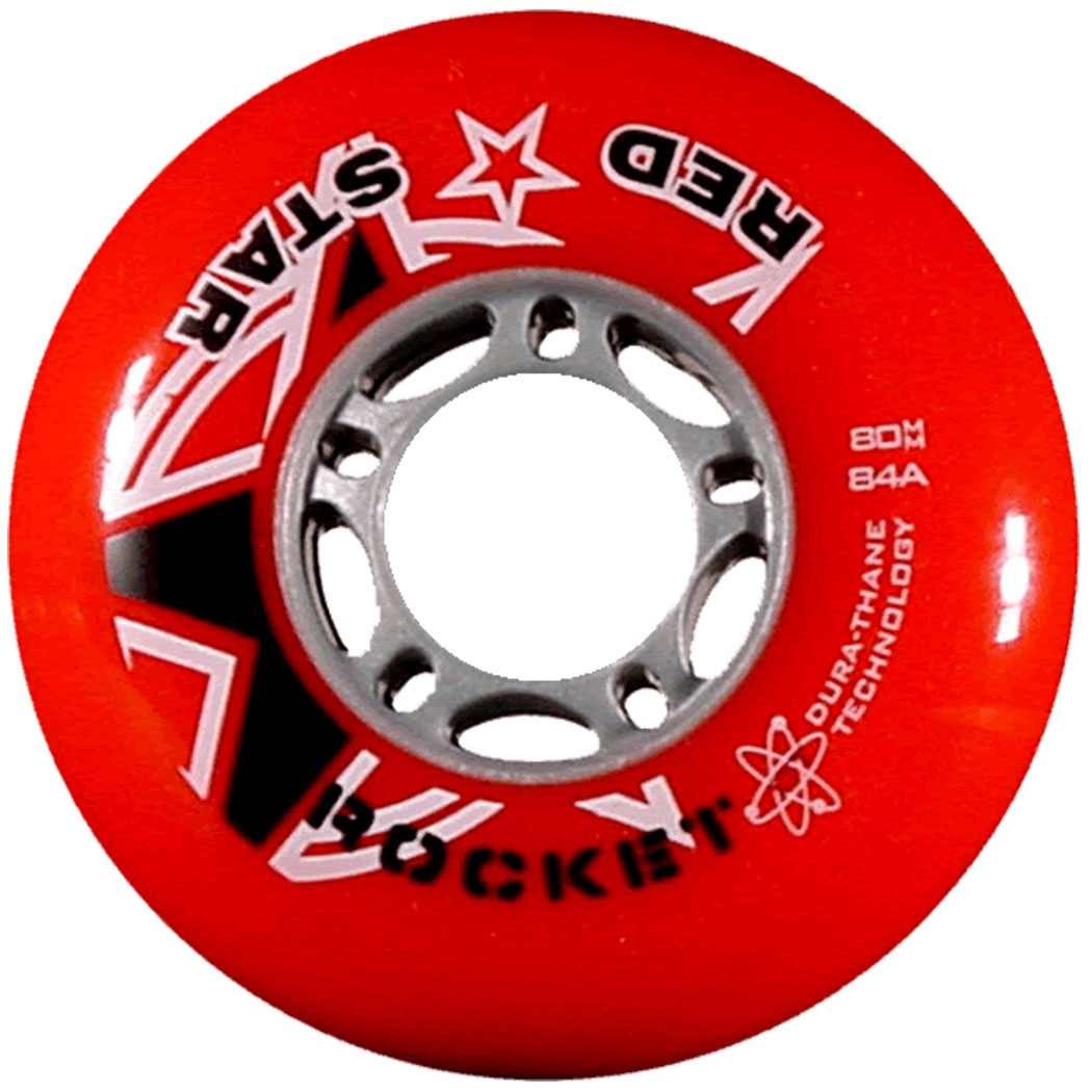 Red Star Rocket Outdoor Inline Hockey Wheels